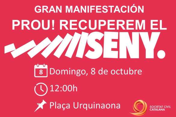 Intento de boicot a la manifestación de Societat Civil Catalana.