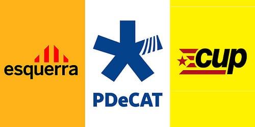 ERC, PDeCAT y la CUP concurrirán por separado