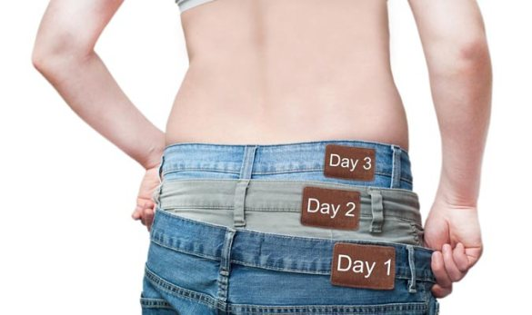 Cómo bajar peso en 3 días