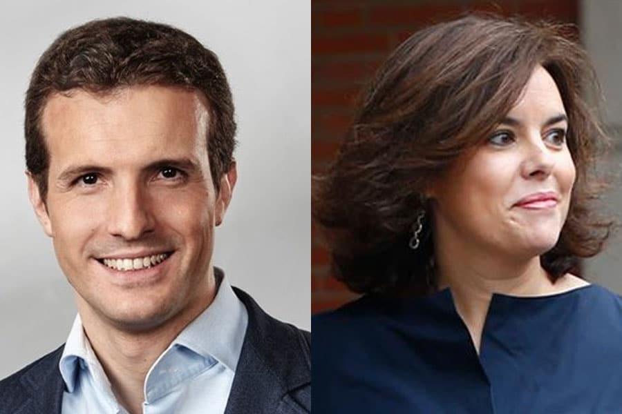 Pablo Casado y Soraya Sáenz de Santamaría los elegidos por los afiliados del Partido Popular de Cataluña