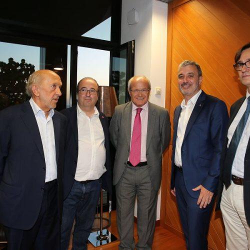 Ricardo Rodrigo con compañeros del PSC de Pasqual Maragall