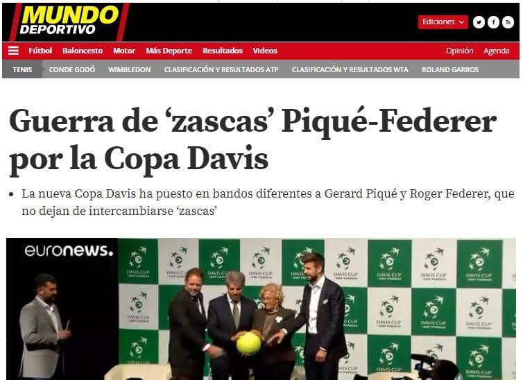 Guerra de Zascas Piqué - Federer
