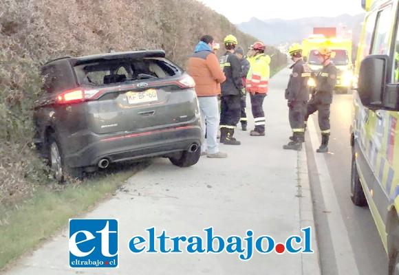El accidente ocurrió cerca de las 08:30 de la mañana de ayer martes en calle Chercán Tapia de San Felipe.