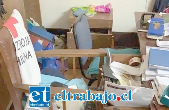 El sujeto ingresó a las oficinas de la Cruz Roja San Felipe en búsqueda de dinero.