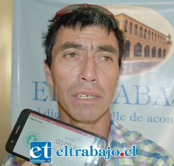 Vocero de los crianceros de Putaendo, Freddy Moreno.