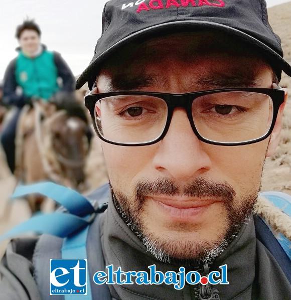 Sergio Seguel, profesor a cargo de la jornada ecológica escolar.