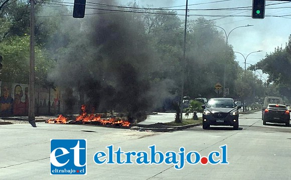 Barricadas ocurridas en la avenida Miraflores de San Felipe.