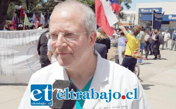Doctor Mario Varela, profesional parte del capítulo médico del Hospital San Camilo.
