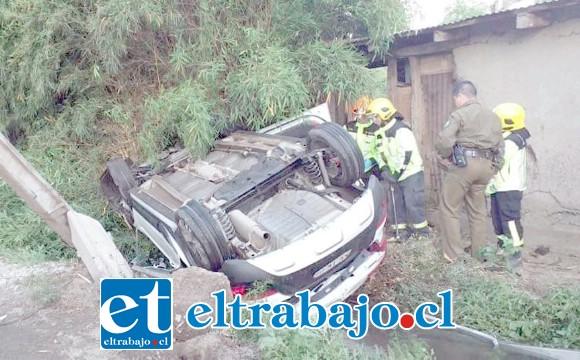 El conductor de 23 años de edad salvó de milagro tras el violento accidente de tránsito.