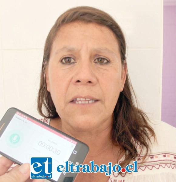 María Quintana, dueña de casa que recibió su nueva casa.