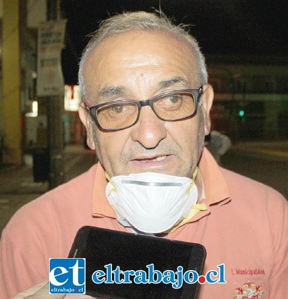 El jefe del Departamento Municipal de Aseo y Ornato, Mauricio Castro.