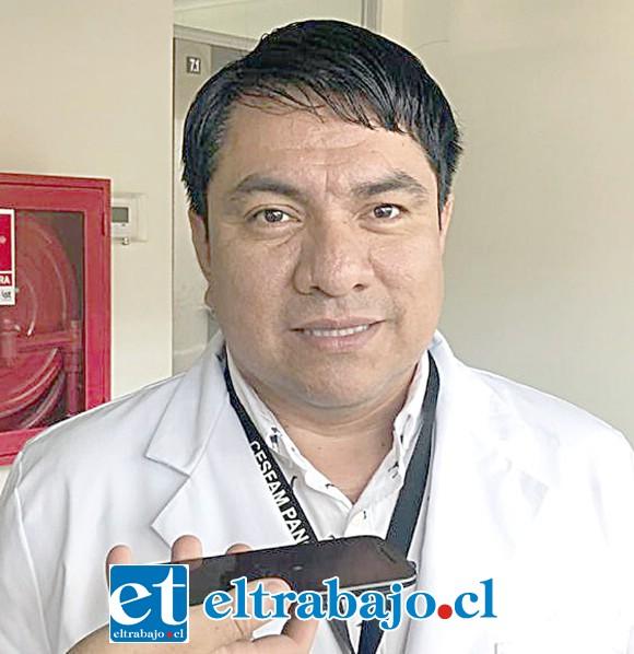 Director del Cesfam de Panquehue, Dr. Teófilo Reyes.