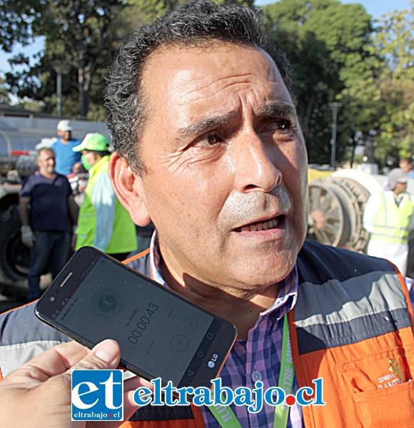 José Luis Silva, encargado municipal de Emergencias.