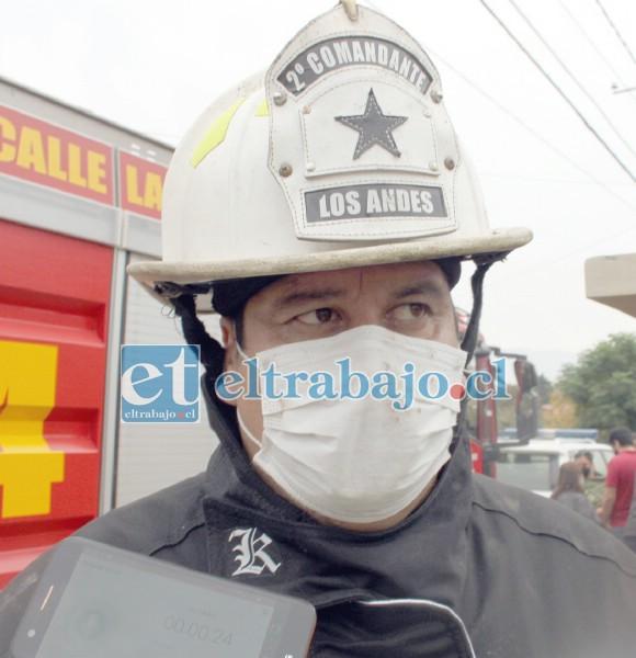 Héctor Bustos Ojeda, segundo comandante del Cuerpo de Bomberos de Los Andes y Calle Larga.