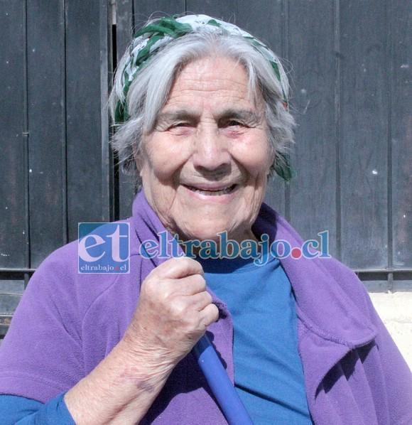 Graciela Pizarro, vecina del sector con 92 años de edad.