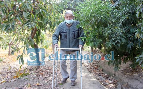 AGRICULTOR EN PROBLEMAS.- Acompañamos a don Luis en su predio agrícola, él no puede enfrentar solo a los delincuentes.