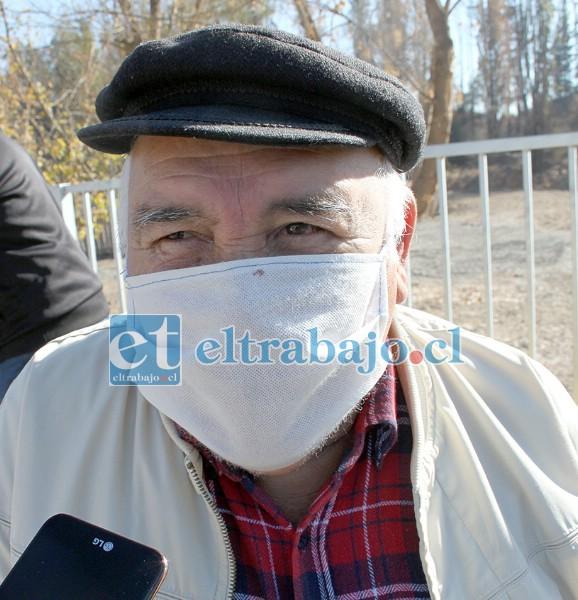 Hugo Toro, vecino de 79 años de edad.