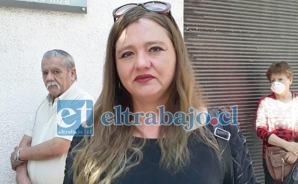 Rosa Olivares, vocera de los ex trabajadores de parquímetros.