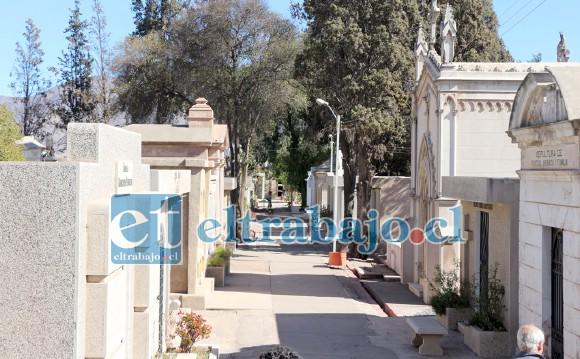El Cementerio Municipal permanece totalmente vacío ya que mientras dure la cuarentena territorial permanecerá cerrado, y se abrirá exclusivamente para la realización de funerales.