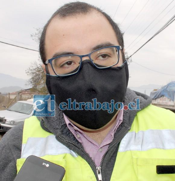 Relacionador público de Bomberos, Diego Arancibia Rodríguez.