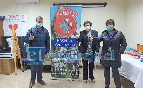 El diputado Luis Pardo visitó el hospital San Camilo y se reunió con dirigentes de los trabajadores para verificar la evolución de la pandemia en la provincia, revisar insumos, protocolos y las instalaciones y capacidad con las que cuenta el personal del hospital.