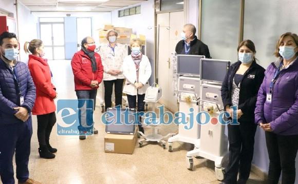 En la imagen los nuevos equipos recibidos que permiten aumentar a 18 las camas críticas en el Hospital San Camilo de San Felipe.