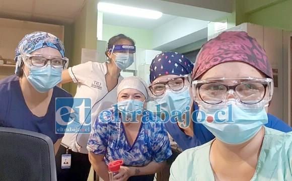 GRACIAS CHIQUILLAS.- Ellas son parte del personal médico del Servicio de Medicina del Hospital San Camilo, quienes diariamente luchan por salvar las vidas de los Pacientes Covid.