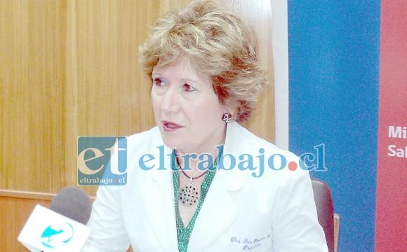 Doctora Iris Boisier, subdirectora médica del Servicio de Salud Aconcagua.