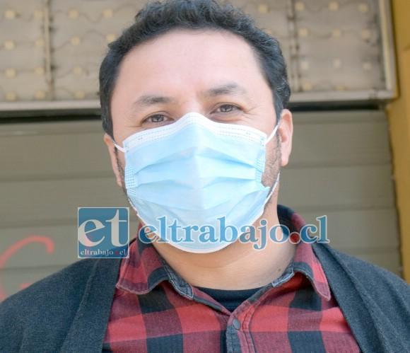 Hernán Ibacache Zepeda, coordinador paritario de la Fenacoor zonal Aconcagua.