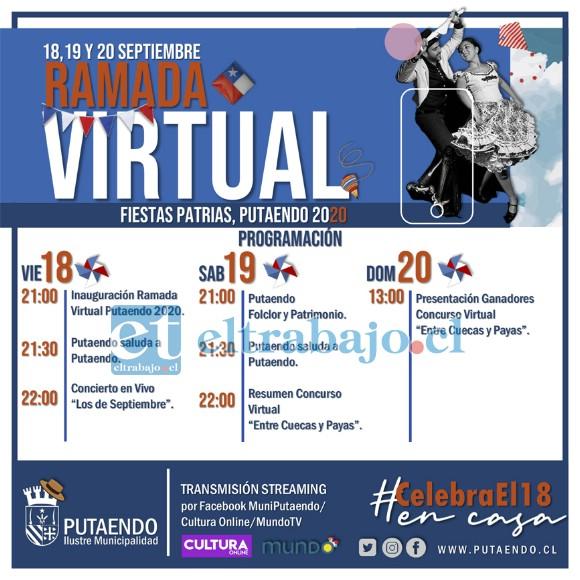 Esta es la programación que ha preparado la Municipalidad de Putaendo para celebrar las fiestas patrias.