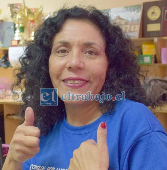 Candidata a concejala de San Felipe por el Partido Republicano, María Isabel Barraza Amar.