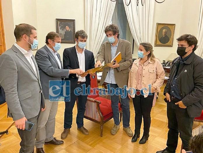 Diputado Luis Pardo con los ministros trabajando en el paquete de medidas especiales para apoyar a la Pymes.