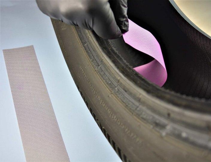 ELTRONIS test labels for automatic tire spraying Testetiketten teszt címkék etichete de inspecţie