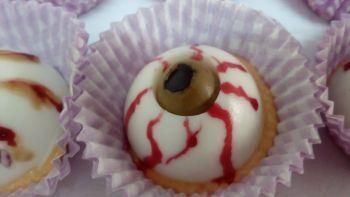 Receta de Halloween ojos sangrientos