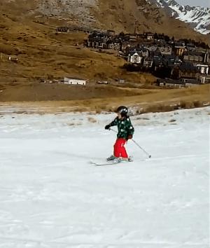 Inaugurando la temporada de esquí