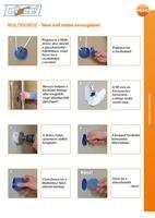Primo Multidoboz szerelési útmutatója (gipszkartonfalba)