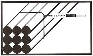 Binder szemes kötődrót drótköteghez