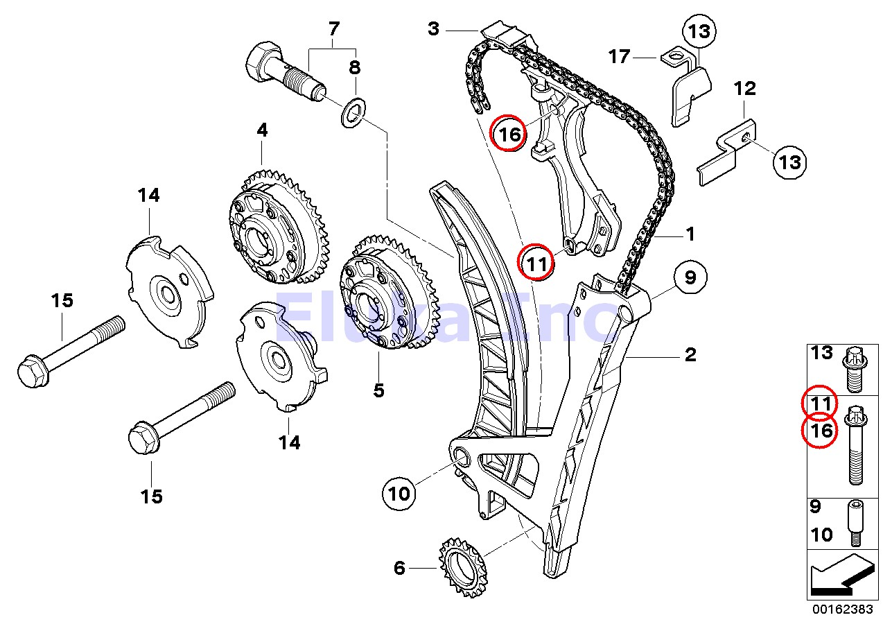 Bmw Genuine Valve Timing Train Bolt