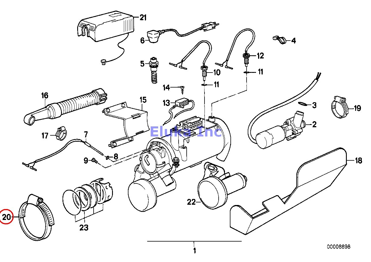 Bmw Genuine Heating Fuel Injection Intake Ventilation Hose