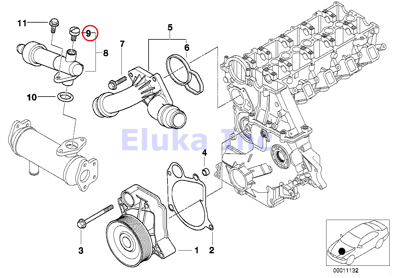 2 X Bmw Genuine Auxiliary Radiator Bleeder Screw With O