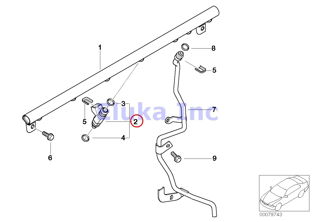 3 X Bmw Genuine Valve Fuel Injection System Injector E46