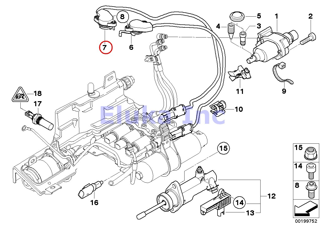 Bmw Genuine Right Gear Position Sensor For Sequential