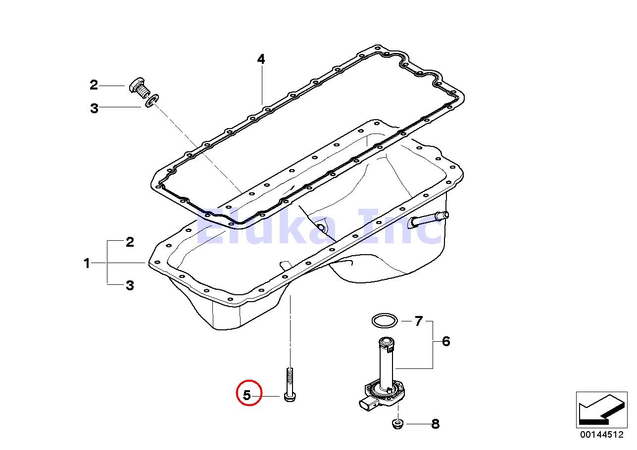 Bmw Genuine Engine Oil Pan Bolt Kit Aluminum E70 E82 E85