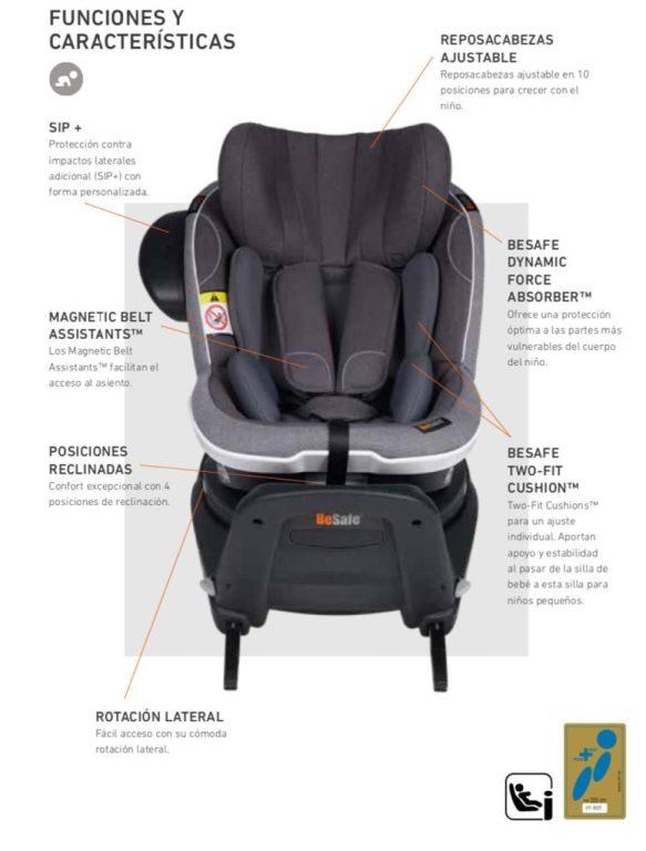 silla mas segura de coche para recien nacido Besafe