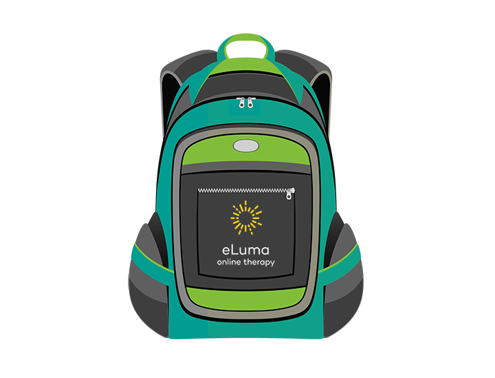 The Virtual Backpack: eLuma's Teletherapy Curriculum Platform. One more reason to go with eLuma.