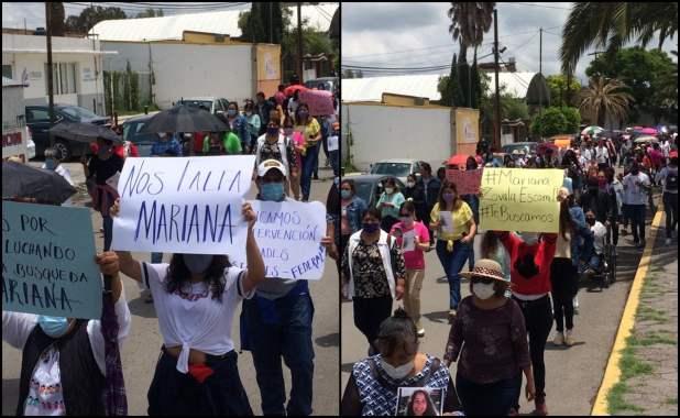 Marchan por Mariana, joven desaparecida en Hidalgo