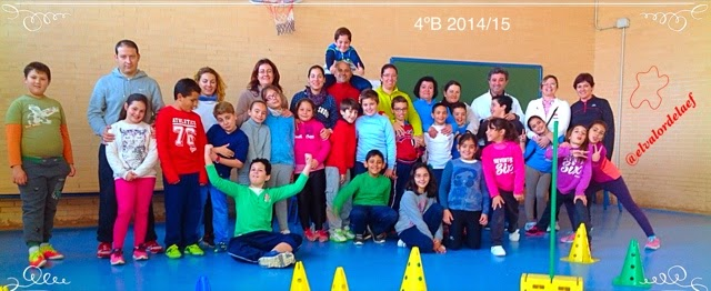 foto 4ºB discapacidad y familia en educación física: educación física en familia
