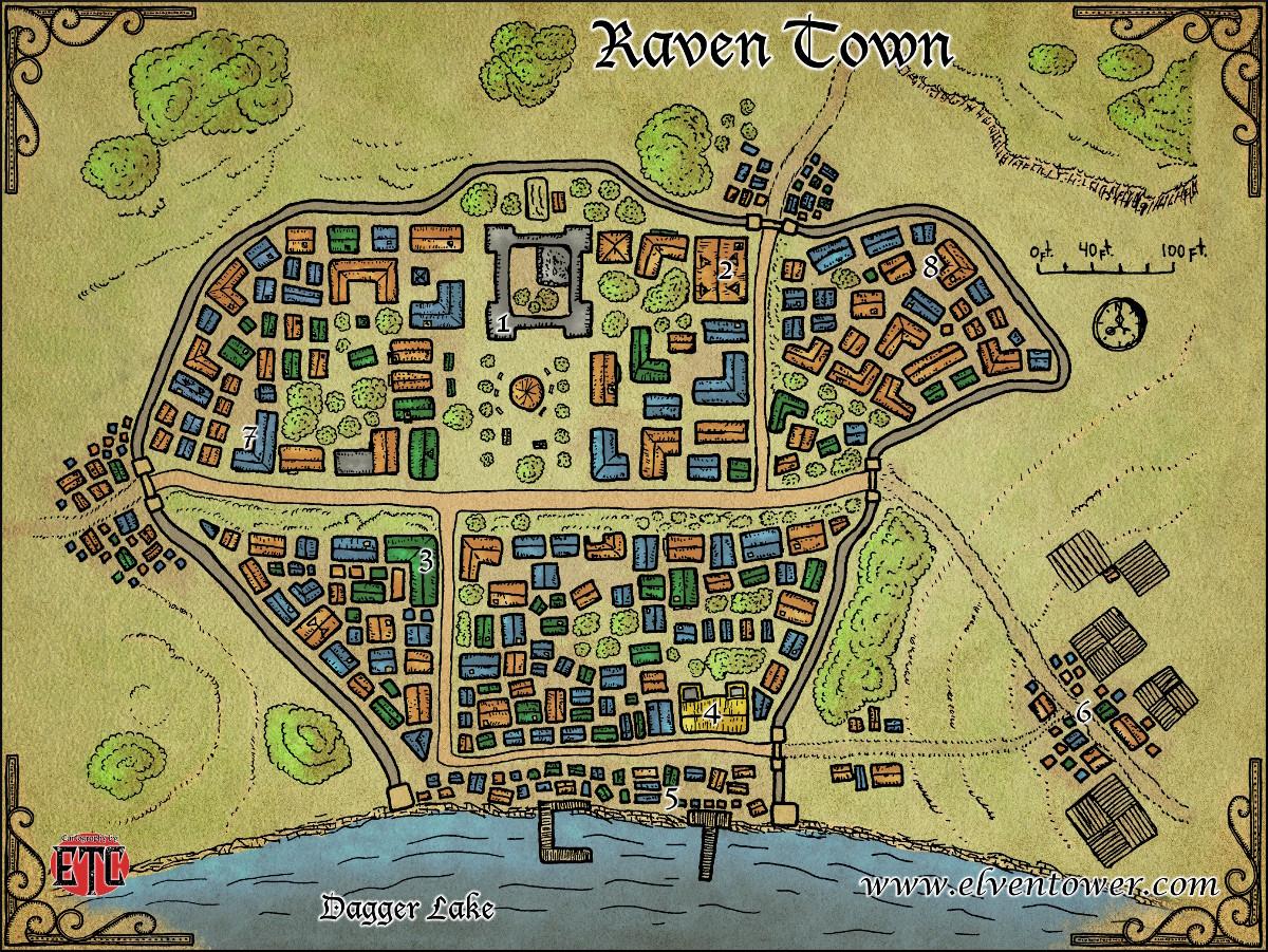 Map 47 Raven Town
