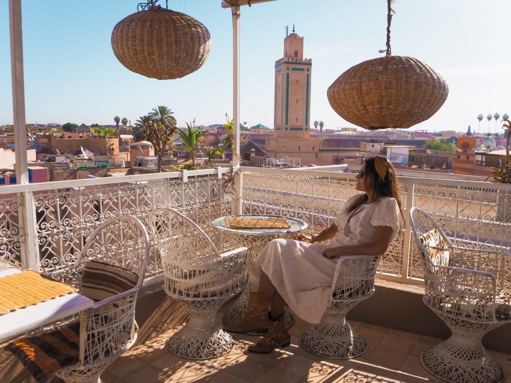 Azoteas y restaurantes en Marrakech
