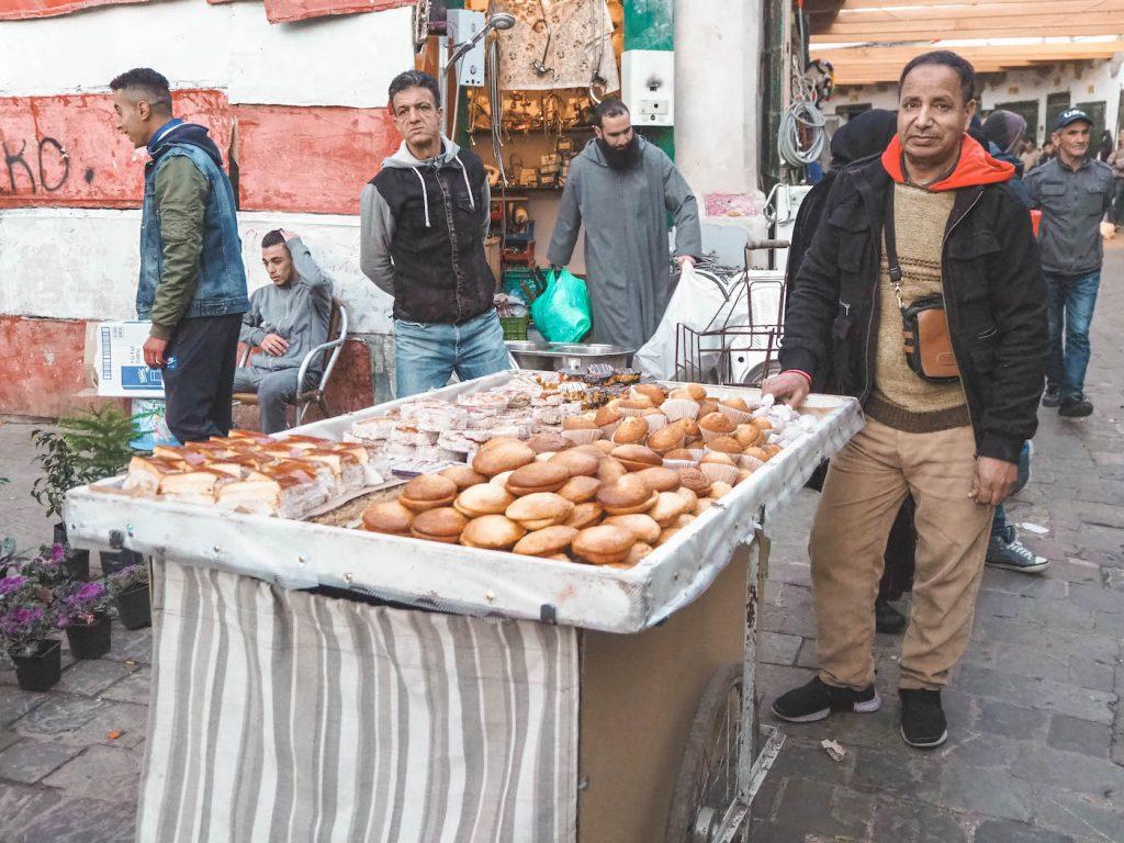 Comida callejera en Tetuán